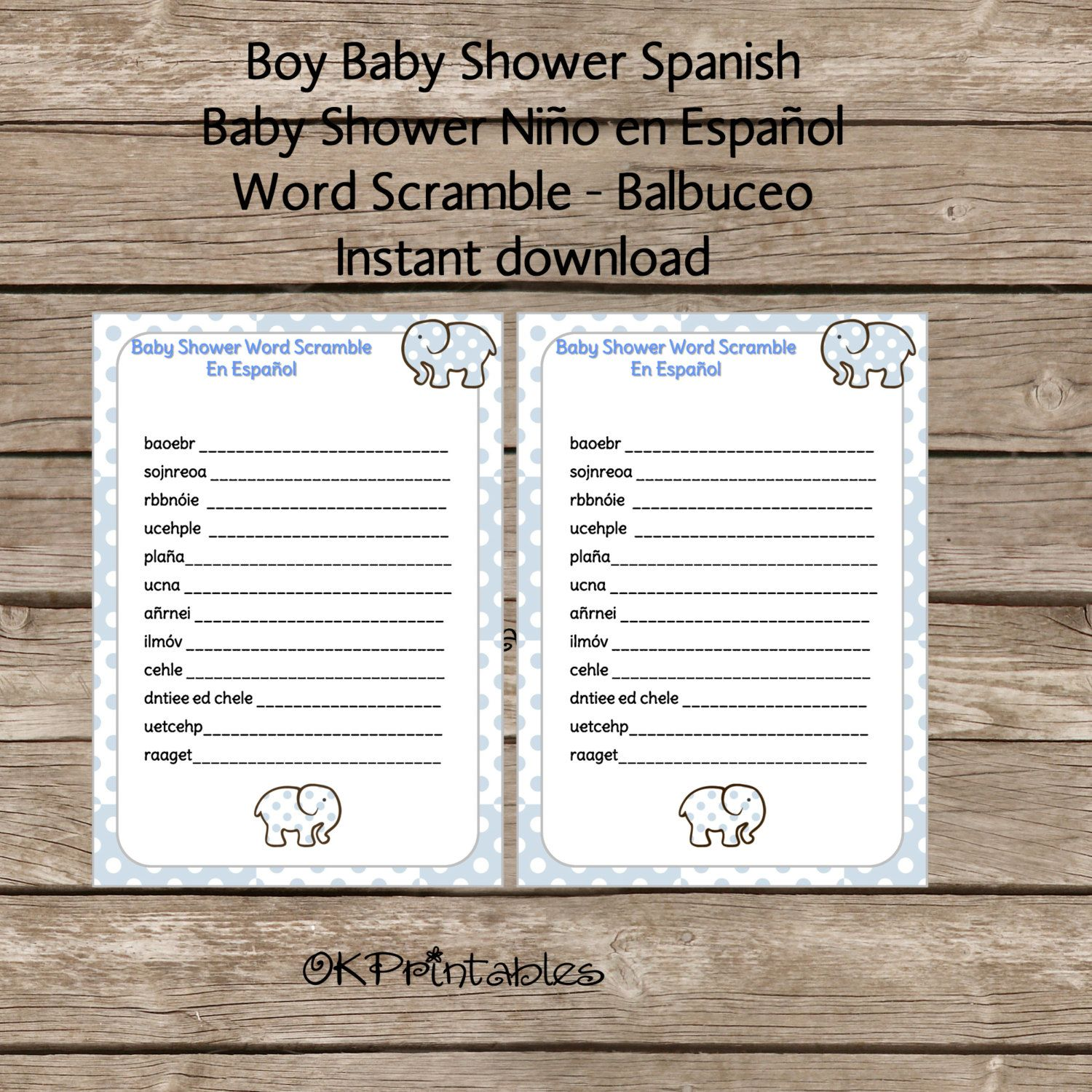 baby boy shower spanish word scramble word scramble en espa ol