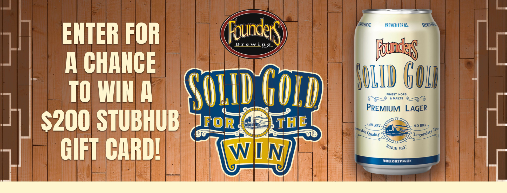 Founders Solid Gold Sweepstakes in 2020 Sweepstakes