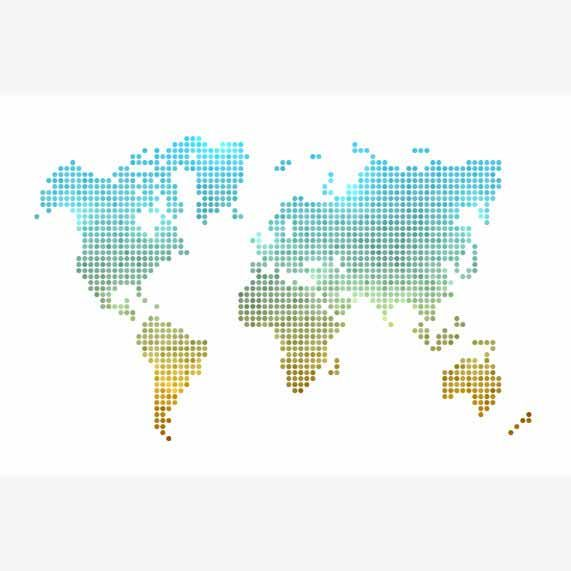 trendy wereldkaart