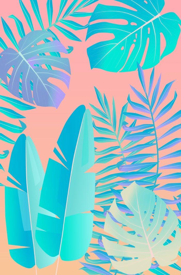 Tropics ( monstera and banana leaf pattern ) Canvas Print by martaolgaklara