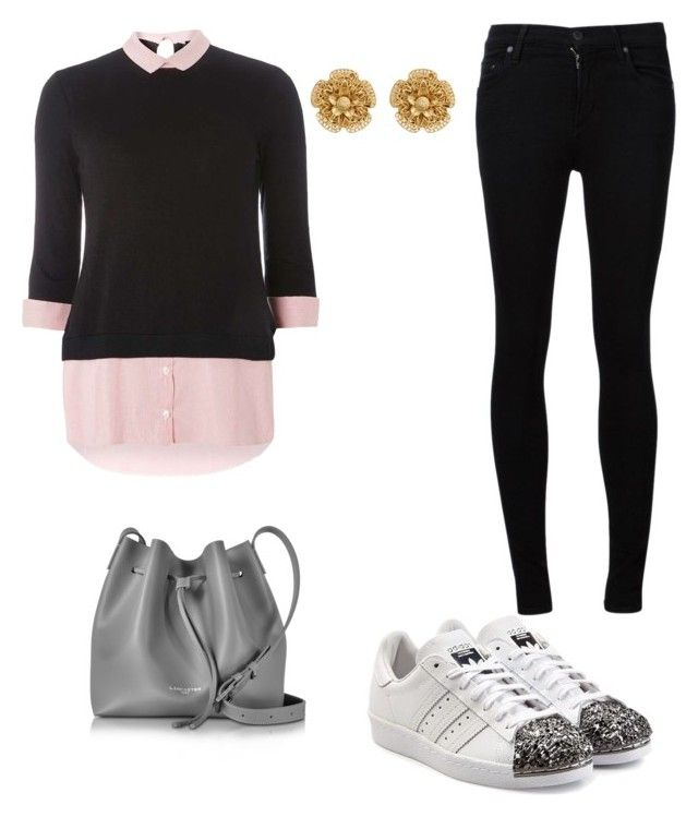 """style "" by daosmu on Polyvore featuring Citizens of Humanity, Dorothy Perkins, adidas Originals, Lancaster and Miriam Haskell"