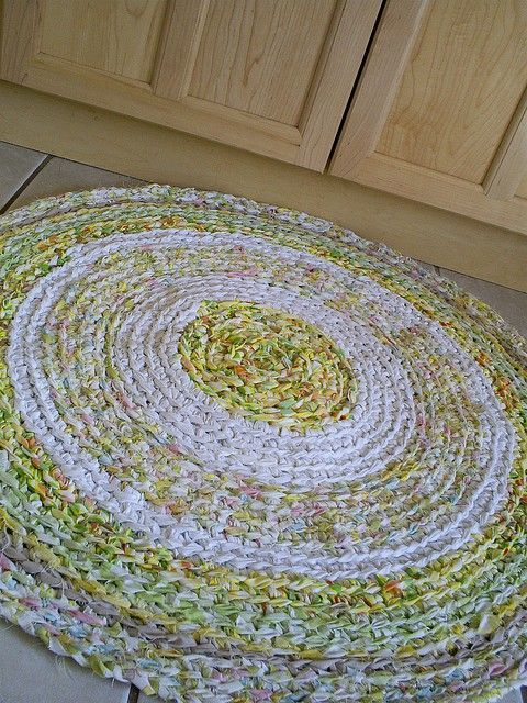 Braided Rag Rug Using Finds From The