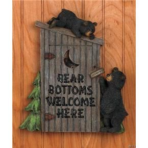 Something Is Delicious Bear Bathroom Decor Outhouse Bathroom
