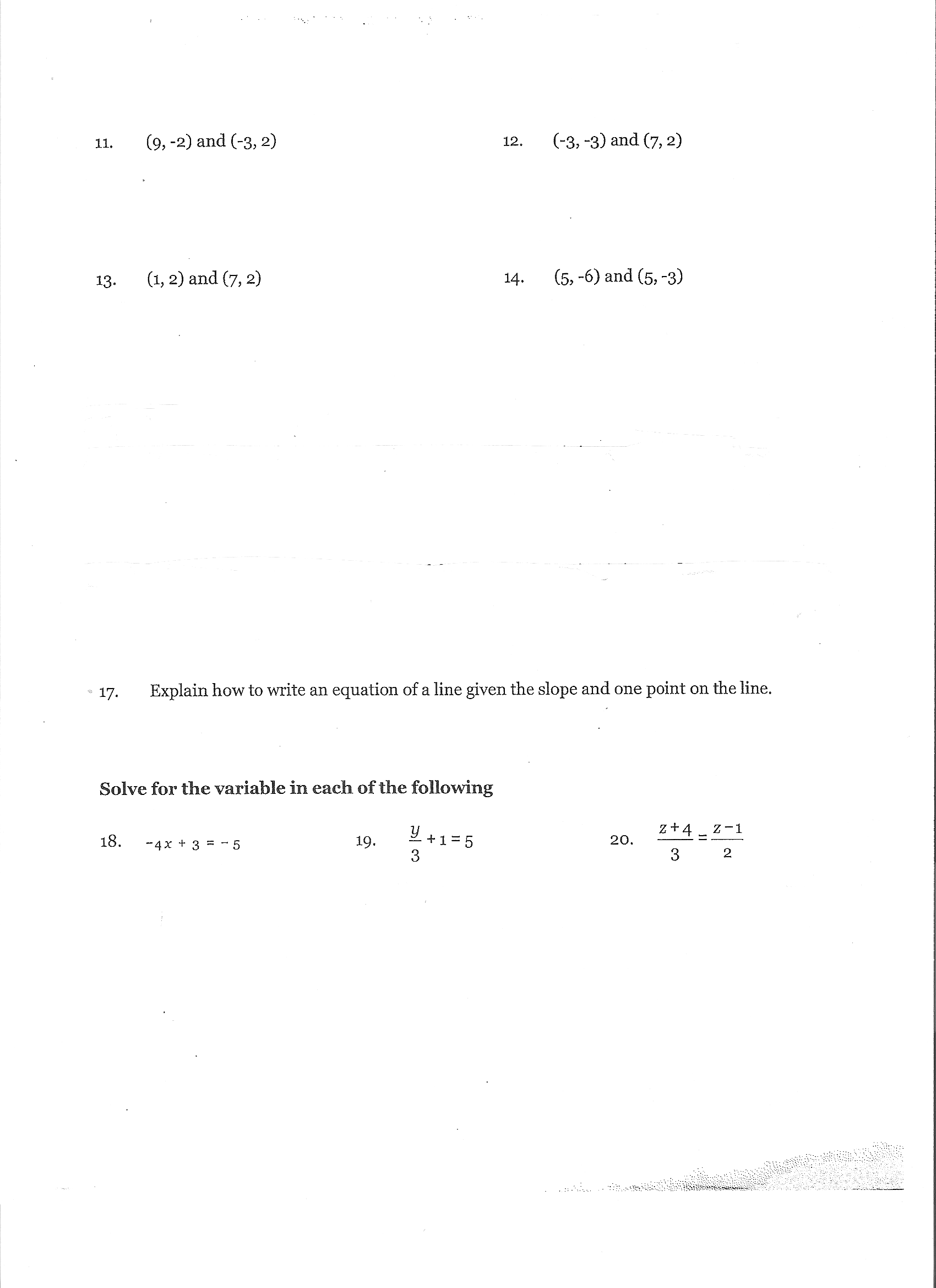 Worksheet Slope Of Parallel And Perpendicular Lines