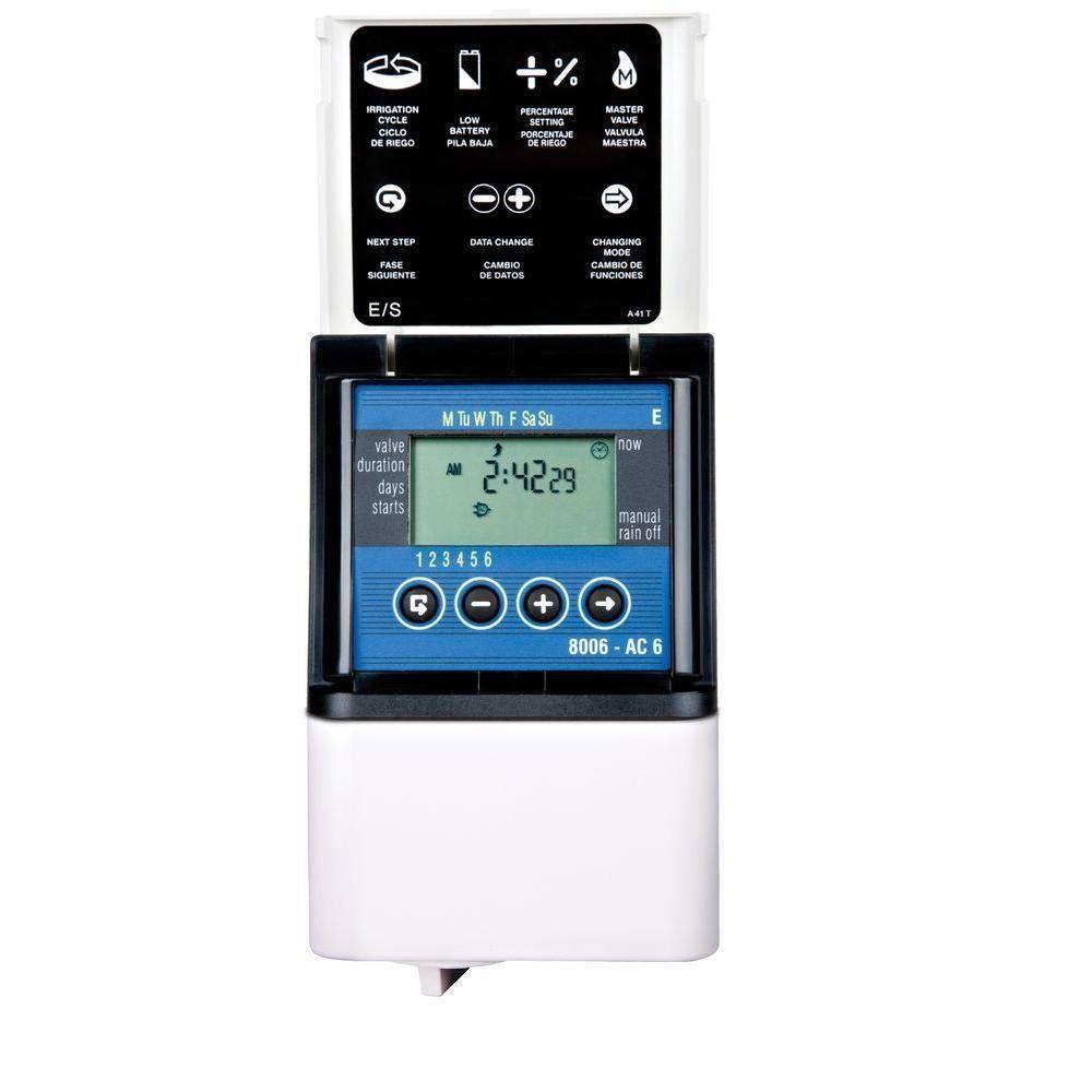Dig 8006 6 Zone Digital Ac Sprinkler Propagation Controller Sprinkler Timer Irrigation Timer Sprinkler Controller