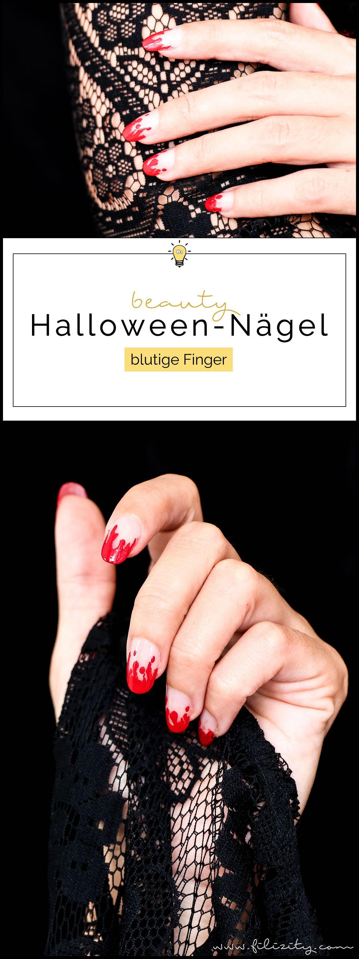 Halloween Nageldesign \