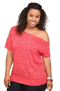 3dab7f0605fd9 Twist Tees - Red Callie Burnout Off-Shoulder Tee