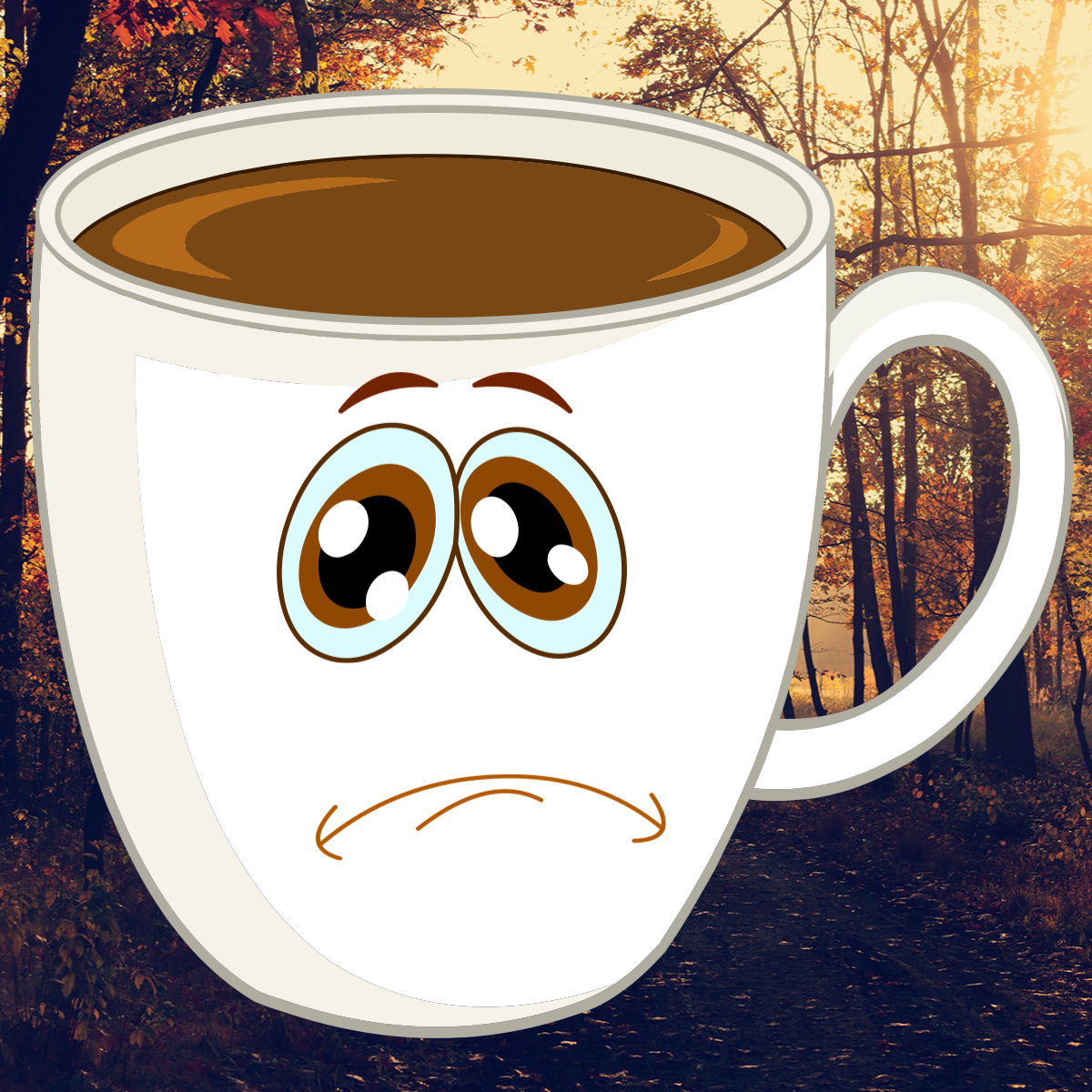 coffee drink funny cry Drink a cup of coffee Emoji
