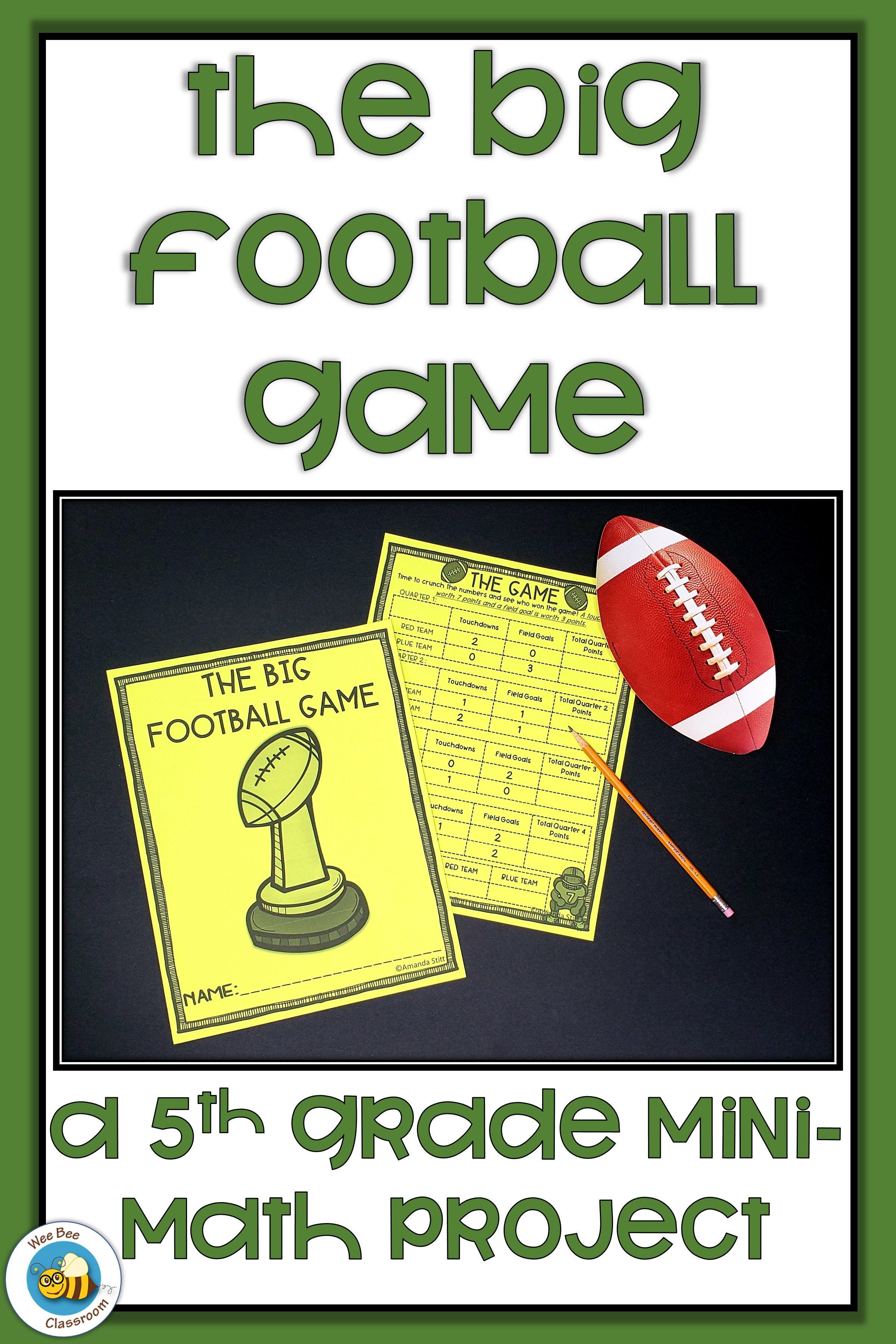 Super Football Game 5th Grade Math Project Football Math Activities Math Projects Math Football [ 3600 x 2400 Pixel ]