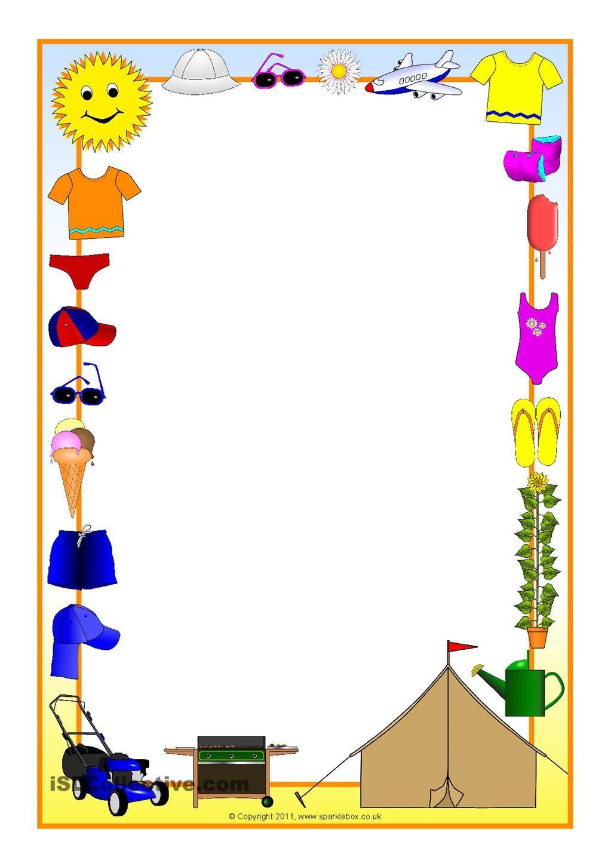 Sommerferien | Blumenrahmen | Pinterest | Kindergarten portfolio and ...