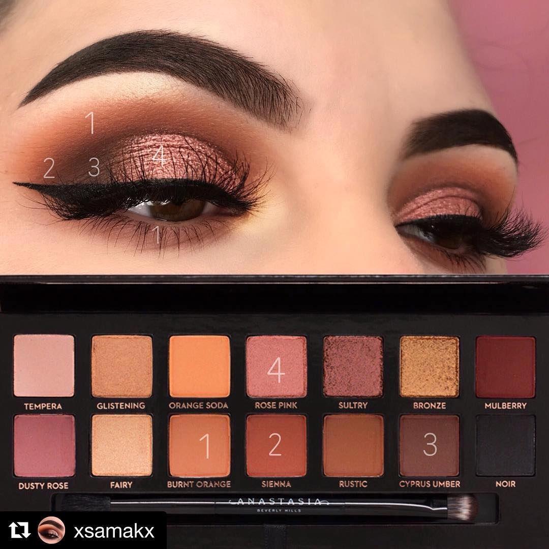 Eyeshadow Tutorials On Instagram Mua Xsamakx Palette Abh