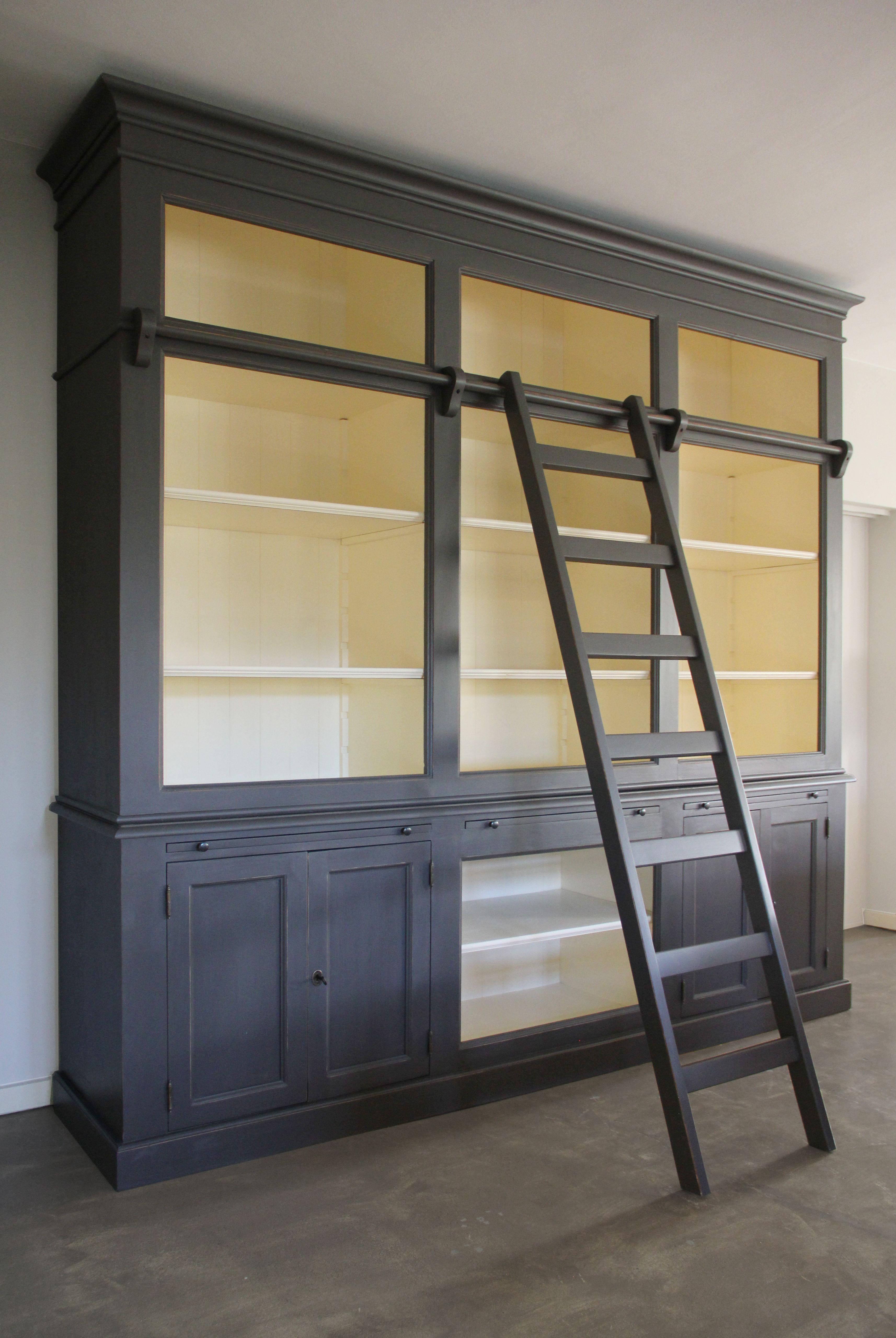 Ongekend Bibliotheekkast met Ladder - Inndoors Meubelen en Interieur (met FT-71