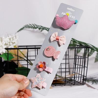 Fashion 5PCS/Pack Cartoon Crown Bow Girls Cute Hairpins Handmade Princess Barrettes Hair Clips Headbands Kids Hair Accessories #kidshairaccessories Fashion 5PCS/Pack Cartoon Crown Bow Girls Cute Hairpins Handmade Princess Barrettes Hair Clips Headbands Kids Hair Accessories #kidshairaccessories