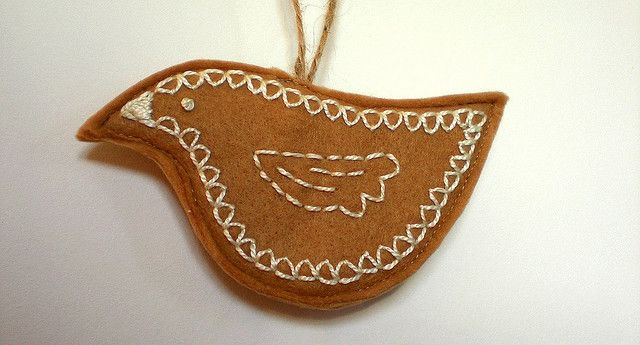 faux gingerbread ornament
