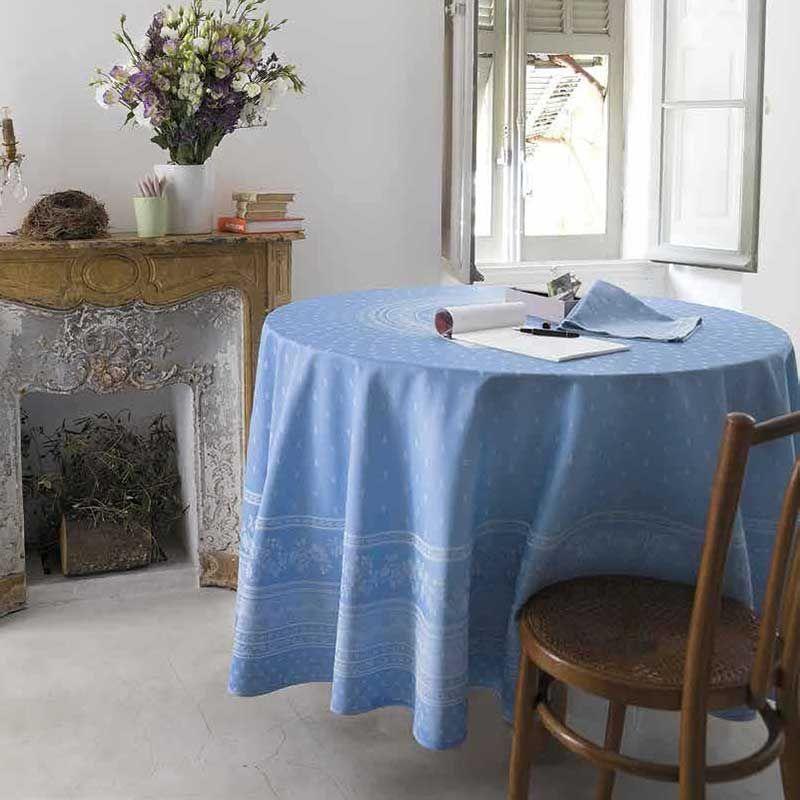 White Table Cloth Jacquard Durance Marat D Avignon Nappe
