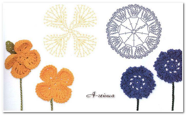 钩针----编织花