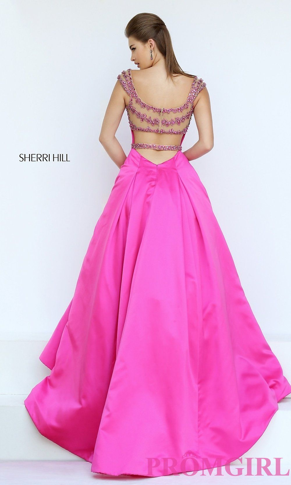 Sweetheart Open Back Cap Sleeve Prom Dress by Sherri Hill | Tiendas ...