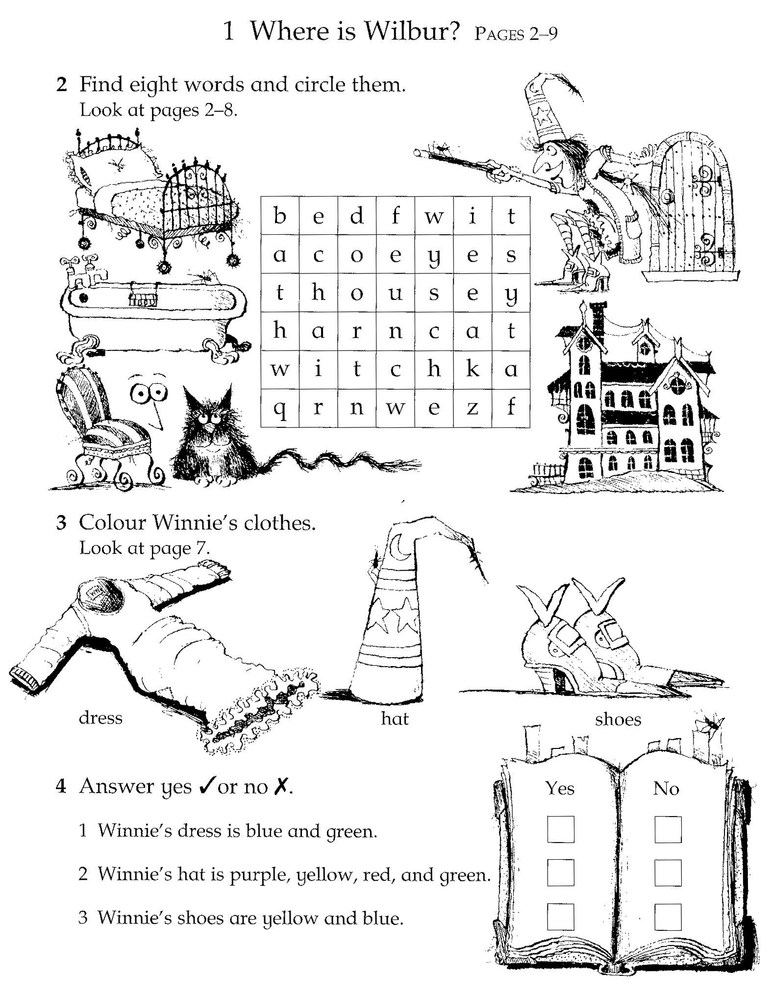 Fuentes\' English Corner : Winnie the Witch Activity Sheets | winnie ...