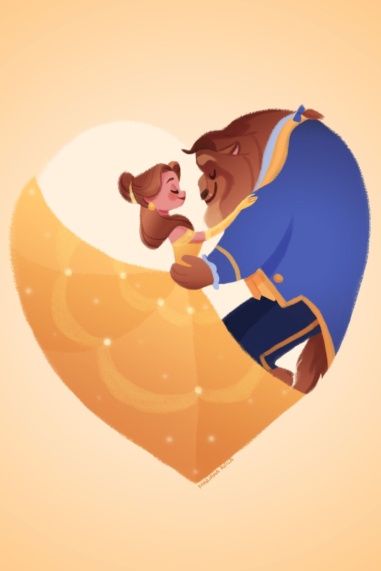 Wallpaper The Belle And The Beast