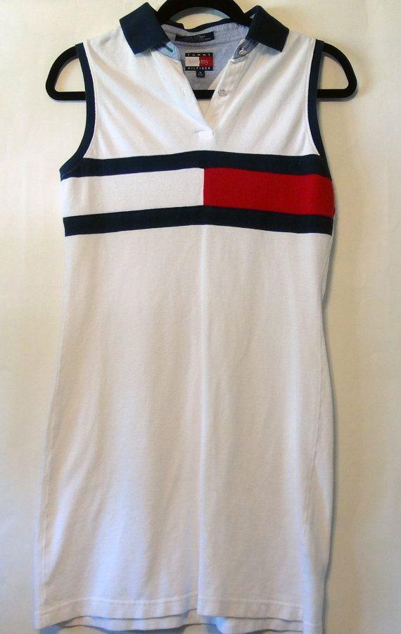 91e87856f133 Vintage Tommy Hilfiger Polo Dress S M by NativeLilacVintage