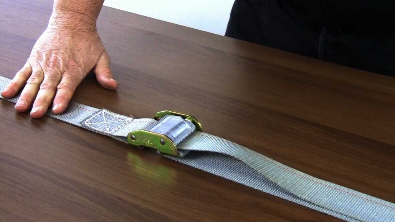 How to use a ratchet strap and a cam buckle strap