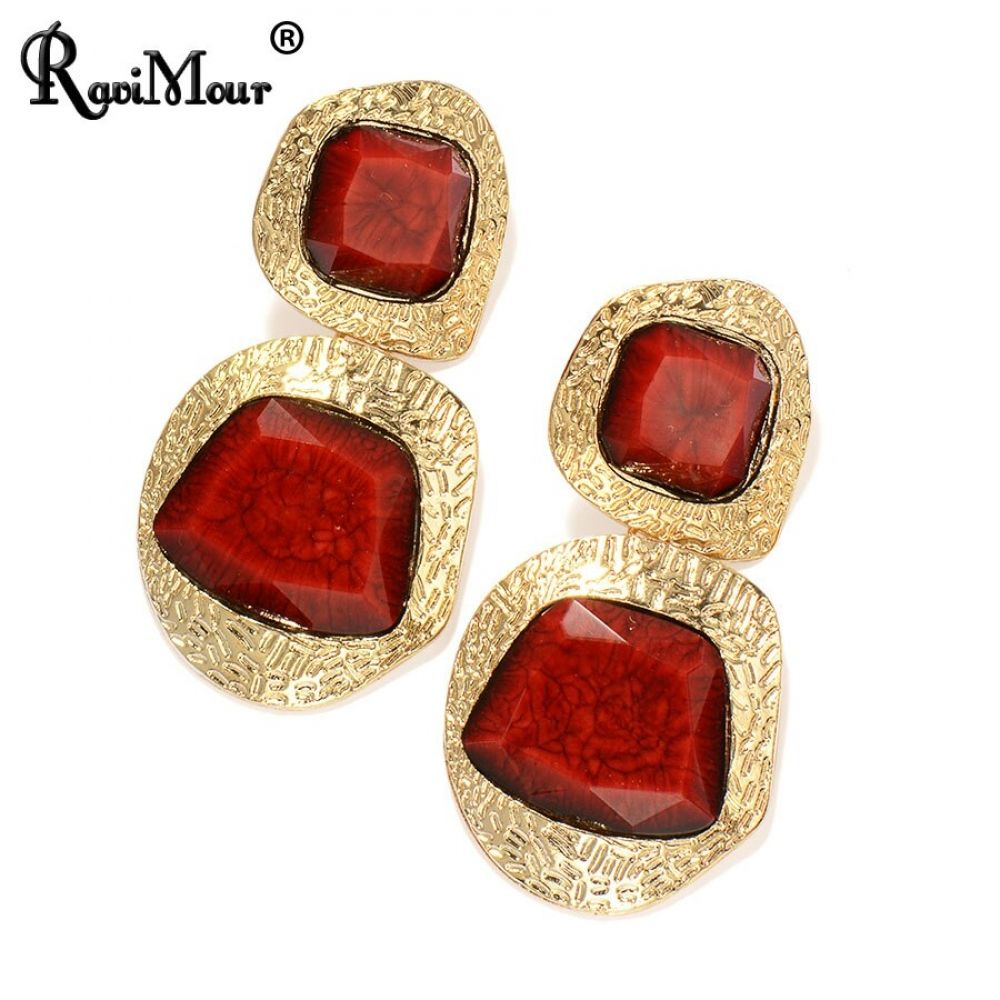Earrings for Women Gold Big Geometric Resin Long Oorbellen Fashion Indian Earings  Price: $ 10.00 & FREE SHIPPING WITHIN 4-12 WORKING DAYS.....DONT FORGET TO USE MY CODE TO GET 10% DISCOUNT(BEADURST10)  #trend #style #womenfashion #mother #fashion #kidsaccessories #accessories #beadurstyle