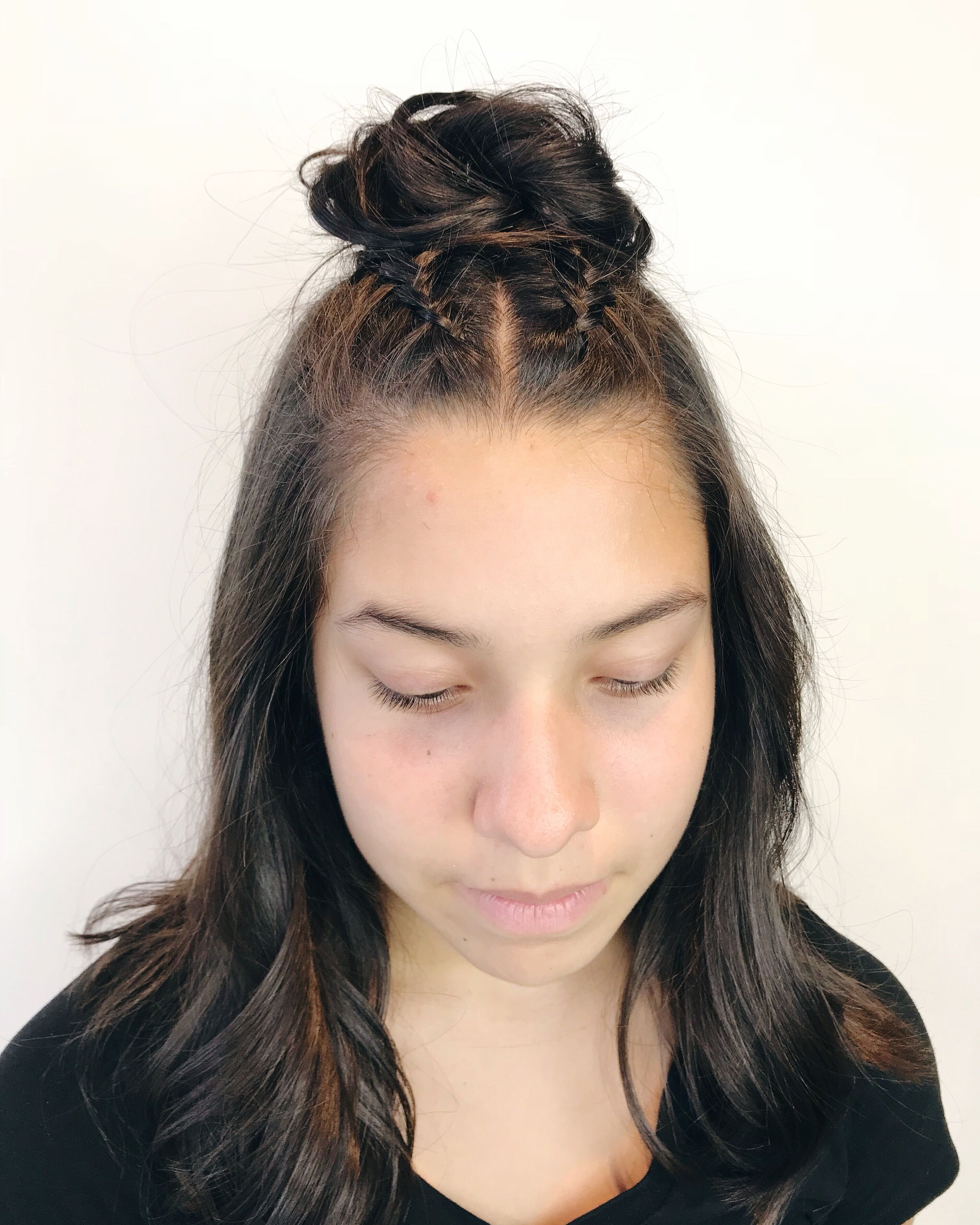 Braided Hairstyles Top Knot Half Up Hairstyles Haircut Hair