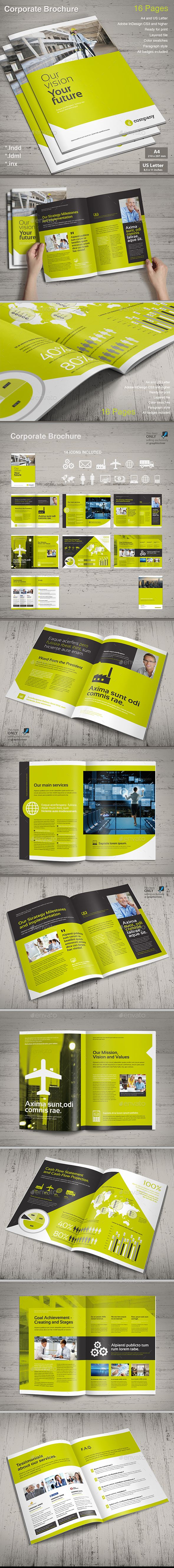 Corporate Brochure Vol.3 — InDesign Template • Only available here ...