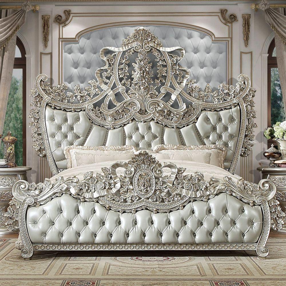 King Bed Hd 8088 Ek Dimensions 106 L X 87 W X 94 H Materials Wood Upholstered Headboard Fo Luxury Bedroom