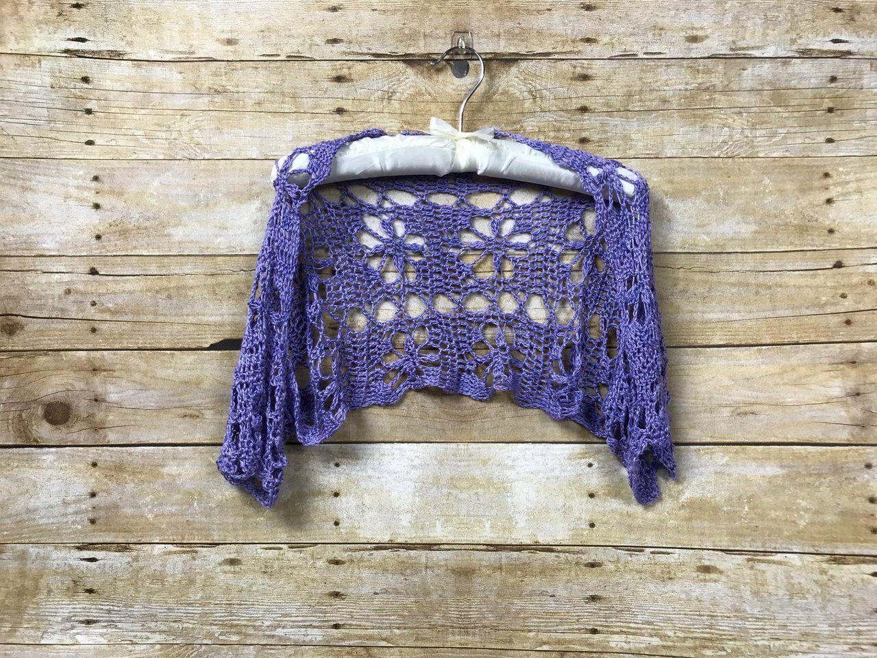 May 27 Sporty Luna Crochet Shrug Free Pattern | Pinterest