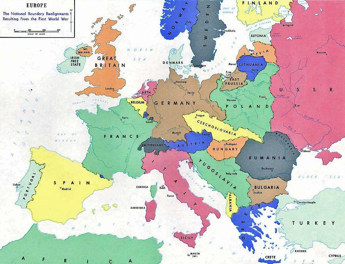 Kuvahaun Tulos Haulle Europas Karta 1918 Karta
