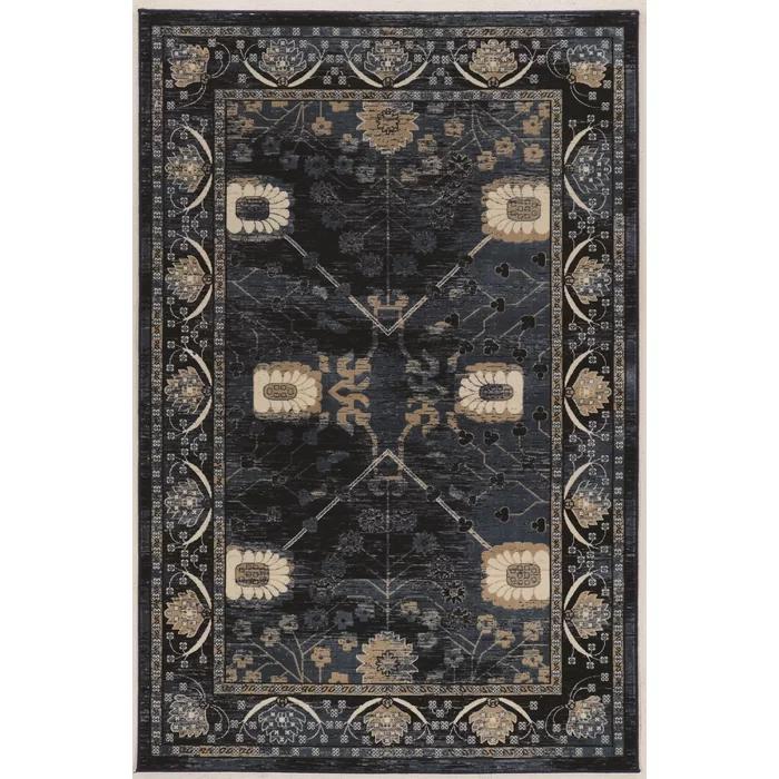 Ateao Blue Oriental Area Rug in 2020 Unique rugs, Navy