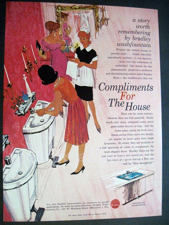 Luxury Illustration Bathroom Attendant Bathroom Decor Pink