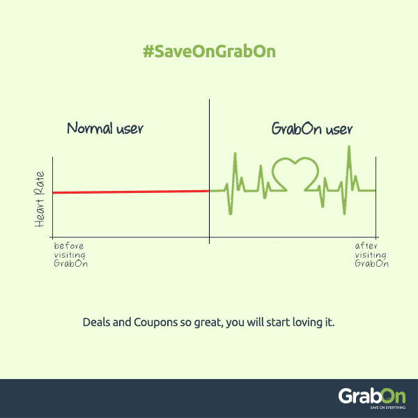 We know how to improve your graph - be it savings graph or heart rate graph! So its time you stopped worrying and start savings with us - 'Coz we are always there for you :)  Visit us at www.grabon.in  #SaveOnGrabOn‬