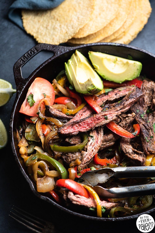 Easy whole30 skillet steak fajitas -