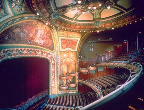 New Amsterdam Theater Nyc Concert Hall Art Nouveau House Styles