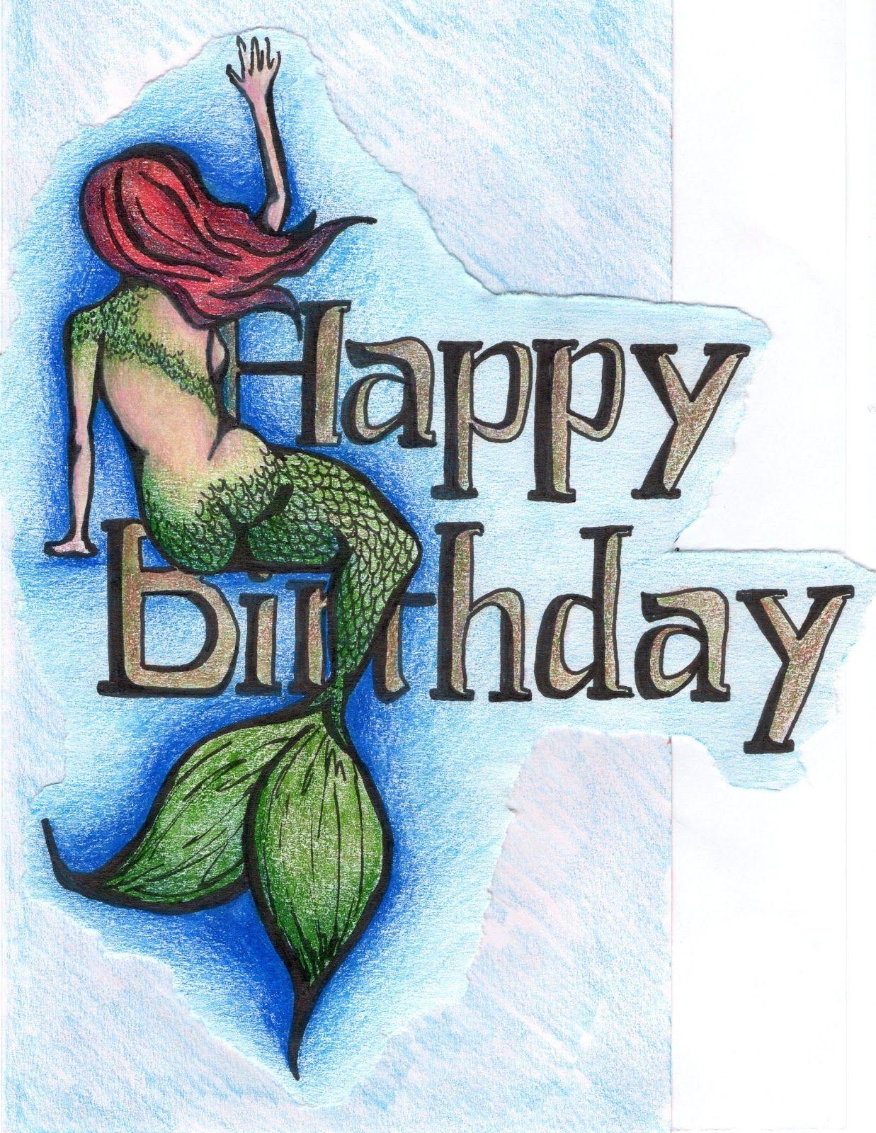 Must Shine The Family Mermaid Happy Birthday Birthday Card Sayings Birthday Wishes Greetings