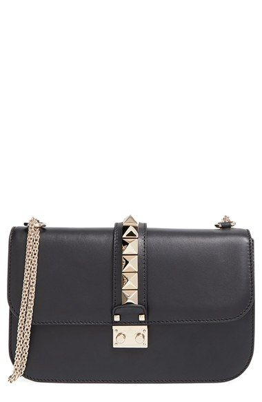 Valentino 'Rockstud - Medium Lock' Leather Shoulder Bag available at #Nordstrom