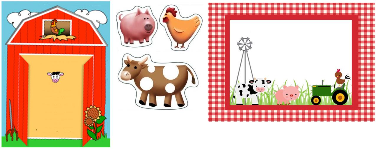 APORTE, FIESTA DE GRANJA, invitaciones, etiquetas, imagenes Cumpleaños Farm theme, Party, Cow