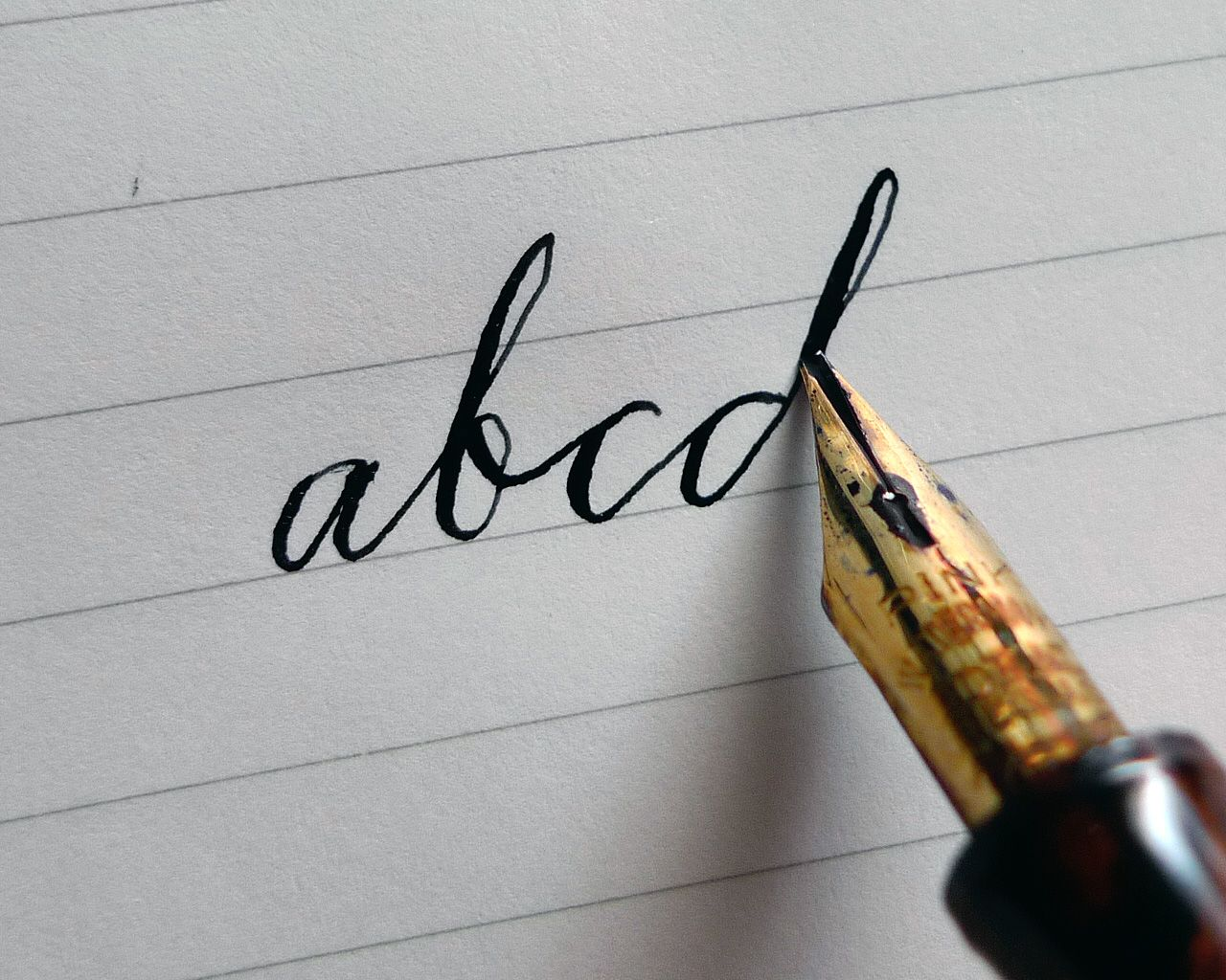 An entry from note to self calligraphy penmanship and Learn calligraphy letters