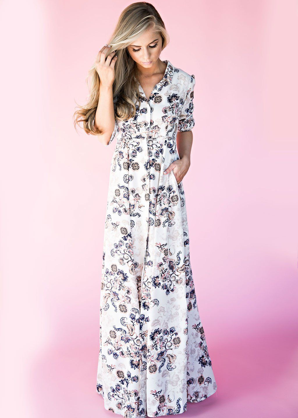 Paisley Button Down Maxi Dress   Clothing   Pinterest   Outfits ...