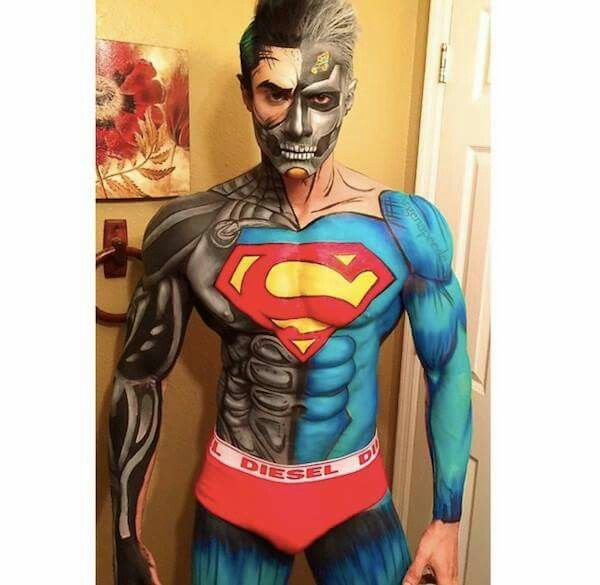 9 best Body Art Super Hero to Photo Project images on
