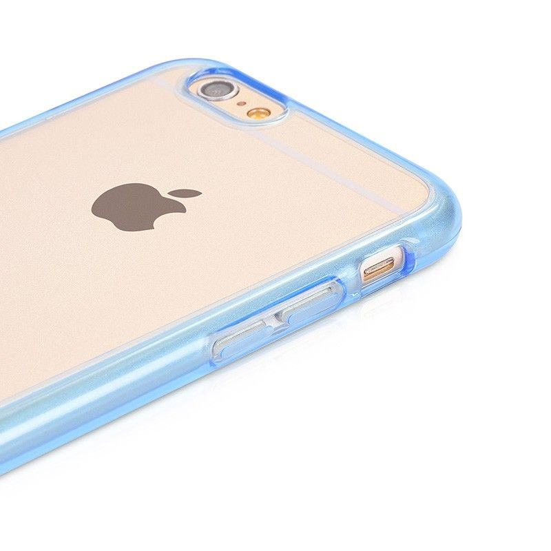Steel Series Double Color Transparent iPhone 6 Cases Blue -Premium PC material safeguard your device from the daily grind -Every side of your iPhone is wrapped up tight to help keep it pristine and scratch-free  -Chrome plated metal case make your device more shiny  -Precise cutouts allow full access to all ports and buttons