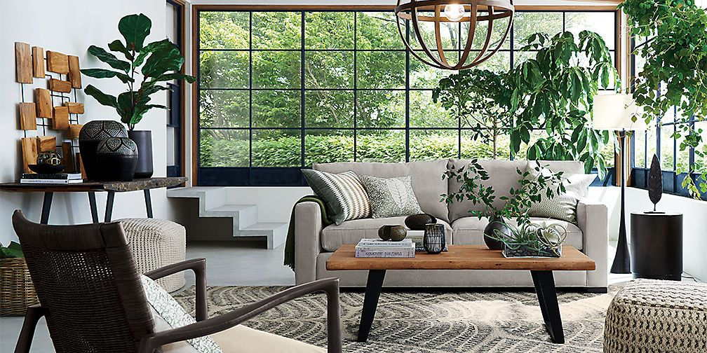 Modern Eclectic Living Room, Crate And Barrel Living Rooms
