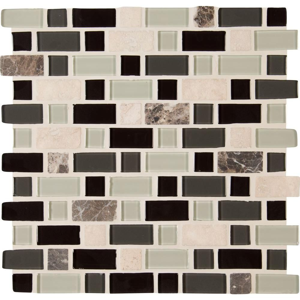 Msi Woodlands 12 In X 12 In X 6 Mm Glass Stone Mesh Mounted Mosaic Tile 1 Sq Ft Sgls Woo6mm The Home Depot Mosaic Tiles Mosaic Wall Tiles Porcelain Mosaic Tile