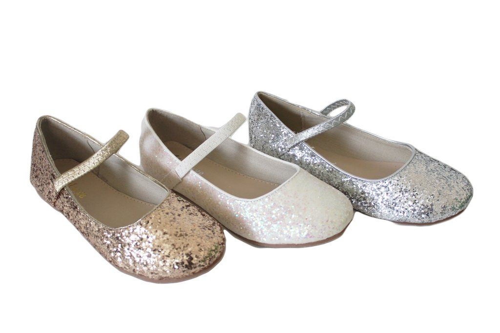 cd5269584093 Girls Shoes NAVY Rock Glitter Maryjane Ballet Flats