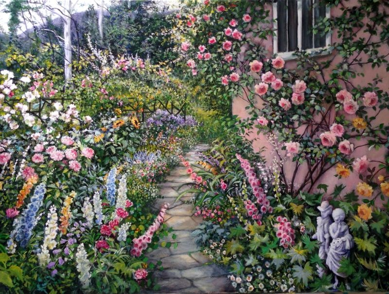 """""""Lover's Garden"""", a new painting I just finished.  www.susanriosdesigns.com"""