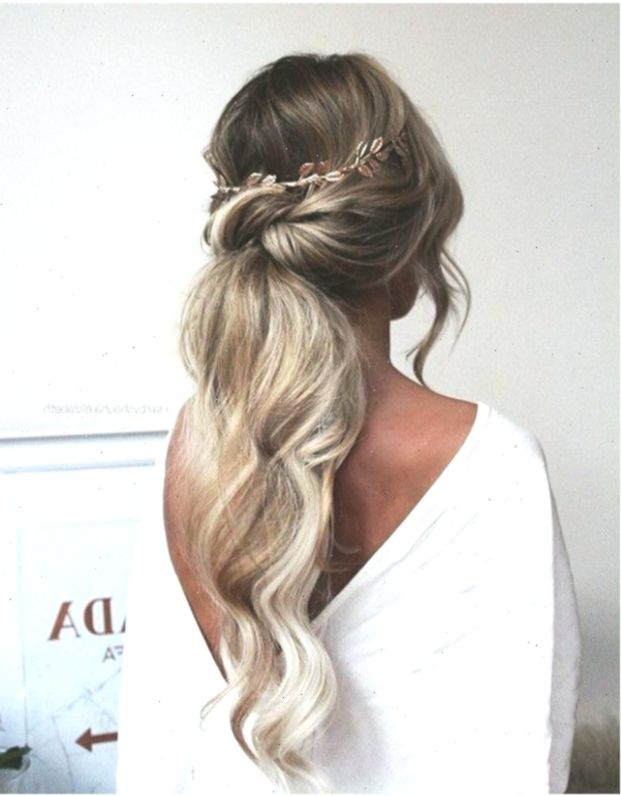 Wedding Hairstyles Ponytail Pony Tails