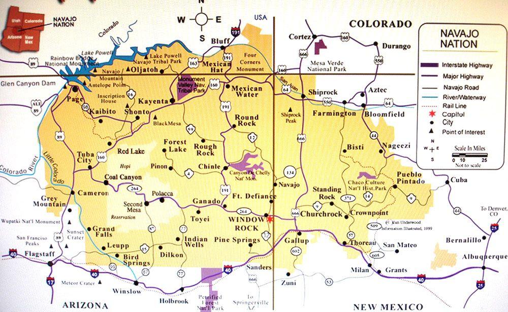Navajo Reservation Arizona Map.Navajo Nation Map Yahoo Search Results Yahoo Image Search Results