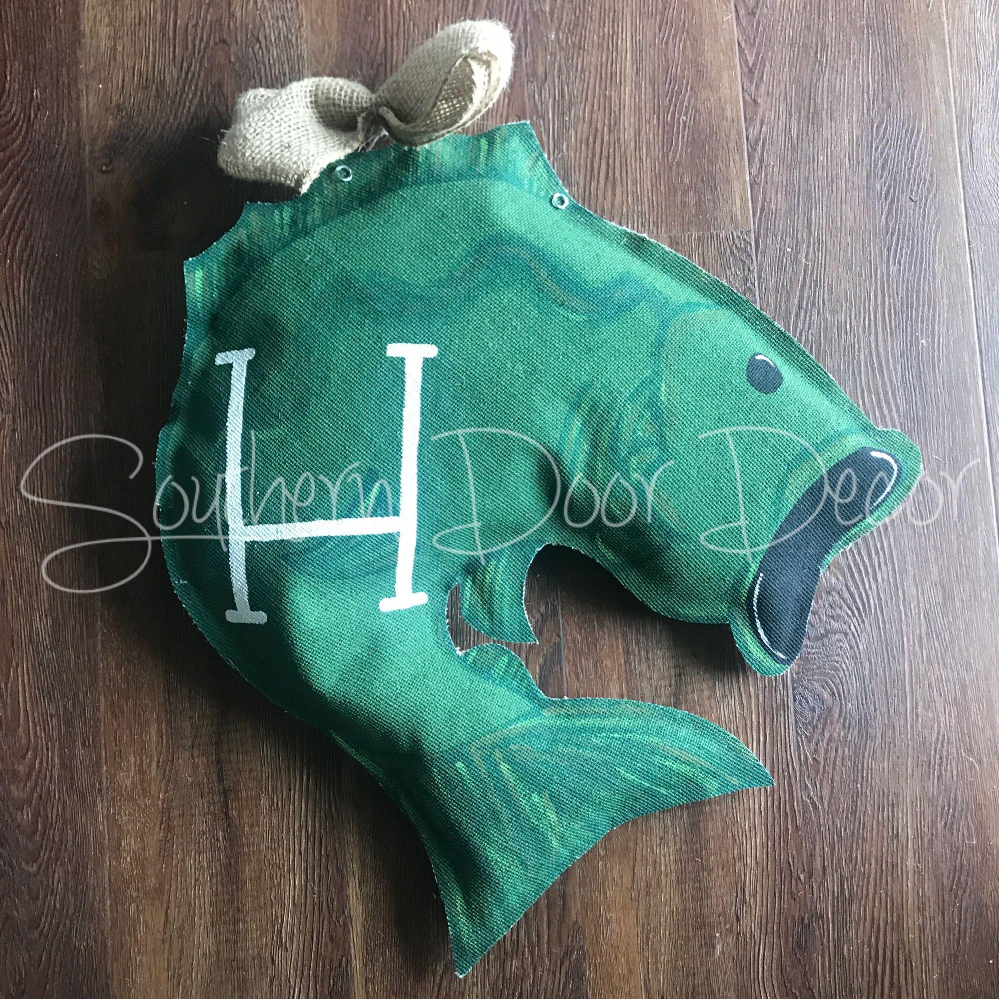 Bass Fish Door Hanger Door Hangers Burlap Door Hangers Recycled Plastic Bags